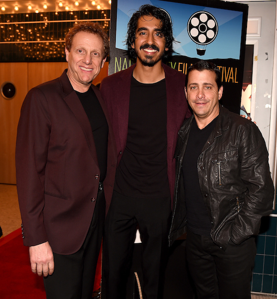 Napa Valley Film Festival Co-Founder Marc Lhormer, actor Dev Patel, and The Weinstein Company President and COO David Glasser. Courtesy of Napa Valley Film Festival