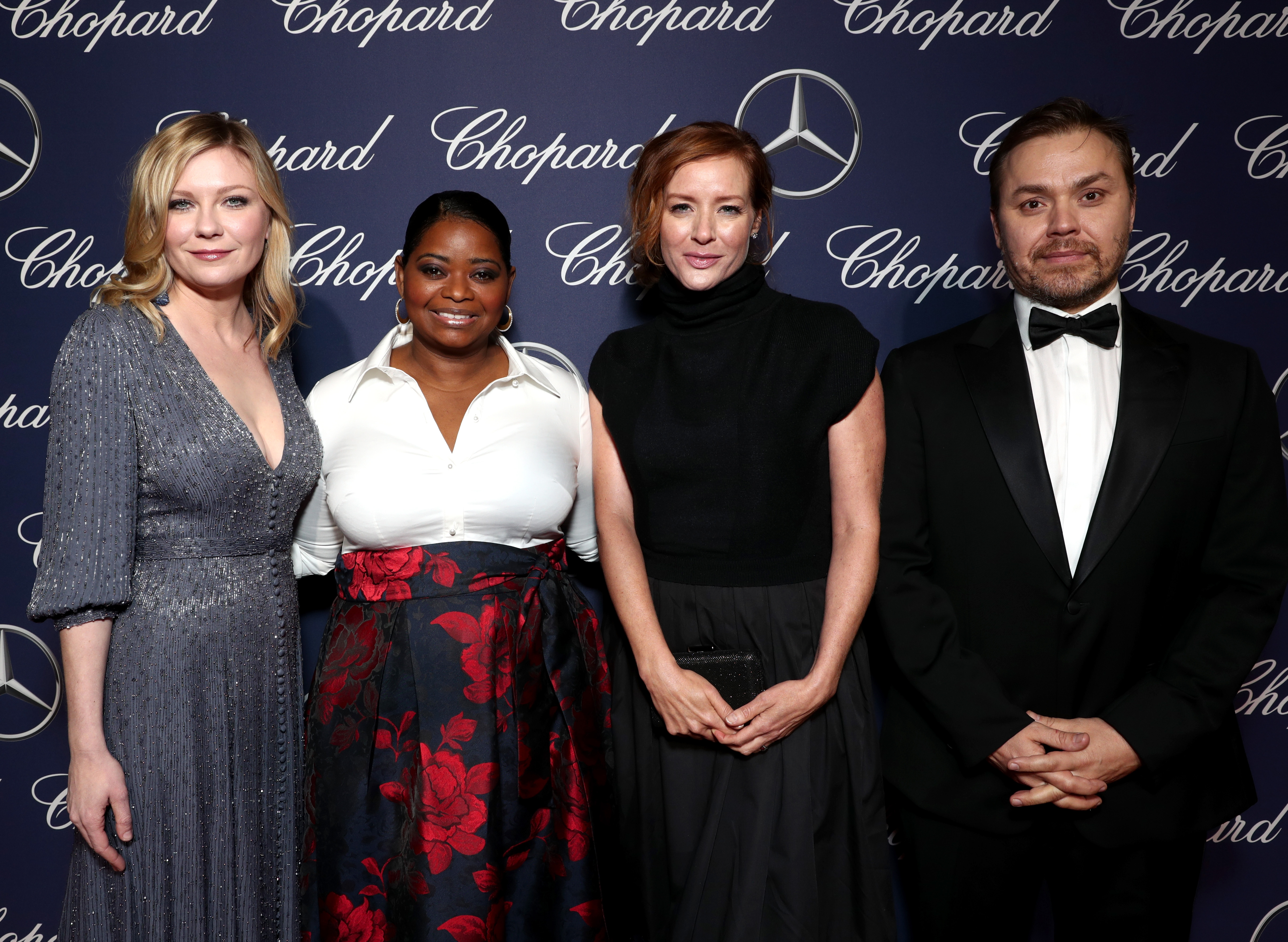 PALM SPRINGS, CA - JANUARY 02: (L-R) Actresses Kirsten Dunst, Octavia Spencer, Kimberly Quinn and director Theodore Melfi attend the 28th Annual Palm Springs International Film Festival Film Awards Gala at the Palm Springs Convention Center on January 2, 2017 in Palm Springs, California. (Photo by Todd Williamson/Getty Images for Palm Springs International Film Festival)